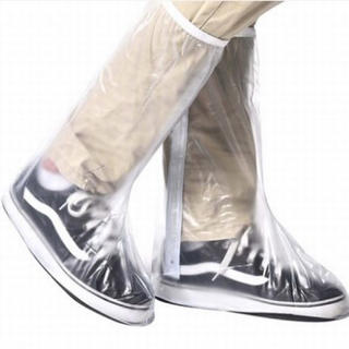 透明レインシューズカバー♪ノンスリップ反射仕様サイズXL(長靴/レインシューズ)