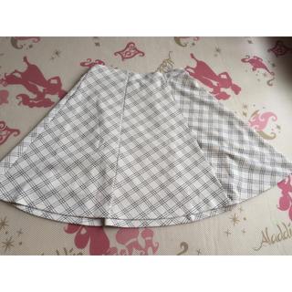 シマムラ(しまむら)の膝丈チェックスカート(ひざ丈スカート)
