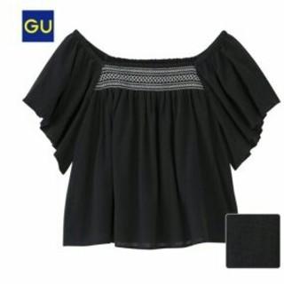 ジーユー(GU)の新品未使用 ブランド トップス(シャツ/ブラウス(半袖/袖なし))