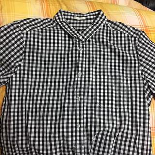 ジーユー(GU)のGU ギンガムチェック シャツ(シャツ/ブラウス(半袖/袖なし))