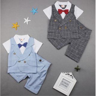 【緊急値下げ♪】2点セット 半袖 サマー フォーマル スーツ dd21(ドレス/フォーマル)