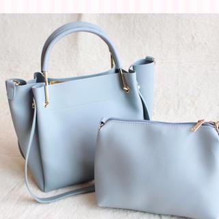 シマムラ(しまむら)の新品 金具ハンドル3wayトート ハンドバック ブルー(トートバッグ)