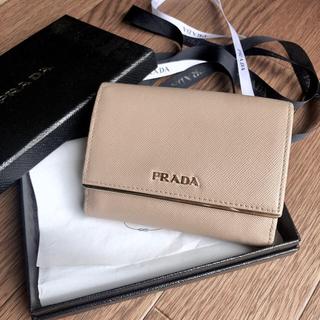プラダ(PRADA)の【PRADA】大人気♡サフィアーノレザー財布 ピンクベージュ(財布)