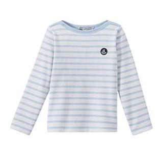 プチバトー(PETIT BATEAU)のプチバトー 18SS マリニエール長袖プルオーバー 水色 3ans (Tシャツ/カットソー)