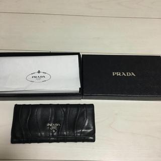 プラダ(PRADA)のPRADA(プラダ)本革財布♡黒 (財布)