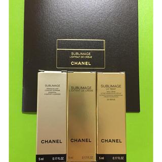 シャネル(CHANEL)のCHANEL シャネル サブリマージュ  サンプル 3点(サンプル/トライアルキット)