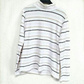 アディダス(adidas)のadidas ボーダー ロンT ➼L(Tシャツ(長袖/七分))
