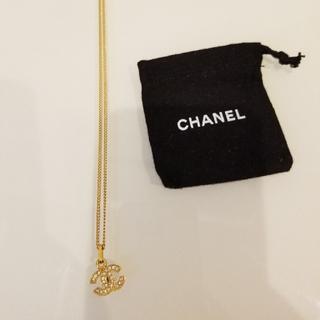 シャネル(CHANEL)のCHANEL シャネル ネックレス ココマークラインストーンネックレス  (ネックレス)
