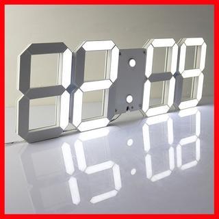 【在庫限りsale】LEDデジタル時計 3Dデザイン アラーム機能付き