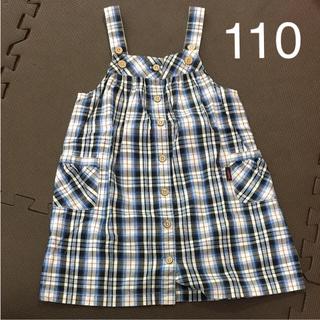 イーストボーイ(EASTBOY)の美品 イーストボーイ EASTBOYワンピース 110サイズ ジャンバースカート(ワンピース)