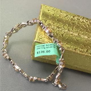 アヴァランチ(AVALANCHE)の天然石 定価1万 ブレスレット シトリン 高級 シルバー 925 誕生石 11月(ブレスレット/バングル)
