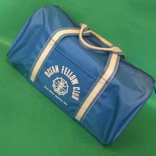レトロなミニドラムバッグ ブルー(ドラムバッグ)