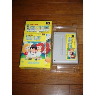 スーパーファミコン(スーパーファミコン)のスーパーファミコン ソフト 白熱プロ野球ガンバリーグ 箱説有(家庭用ゲームソフト)