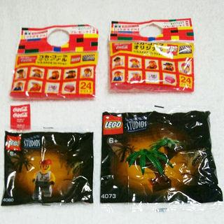 未開封◆コカ・コーラ オリジナル レゴ 2種(積み木/ブロック)