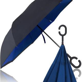 Hizak 逆さ傘 逆開き UVカット 撥水 耐風 (その他)