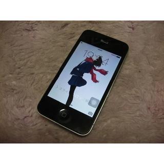 アップル(Apple)のiPhone4 32GB softbank No790 USB充電ケーブル付き(スマートフォン本体)