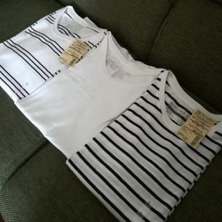 ムジルシリョウヒン(MUJI (無印良品))の無印良品 オーガニックコットンクールネック半袖T 三枚セット(Tシャツ(半袖/袖なし))