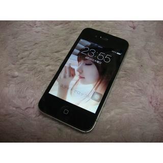 アップル(Apple)のiPhone4 16GB softbank No797 USB充電ケーブル付き(スマートフォン本体)