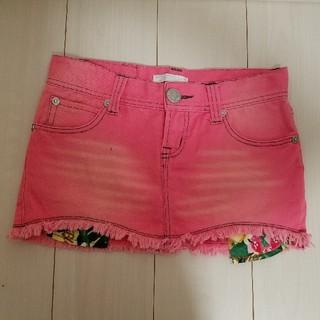ブルームーンブルー(BLUE MOON BLUE)のミニスカート デニム ピンク 膝上(ミニスカート)