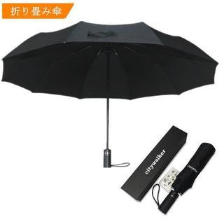 折り畳み傘 ワンタッチ自動開閉 メンズ 10本骨  晴雨兼用(その他)