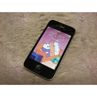 アップル(Apple)のiPhone4 32GB softbank No805 USB充電ケーブル付き(スマートフォン本体)