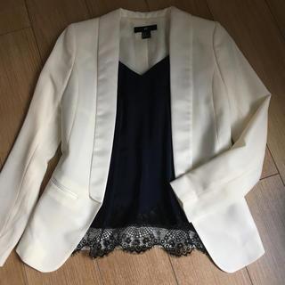 ジーユー(GU)のH&M GU レースキャミ ホワイトジャケット(キャミソール)