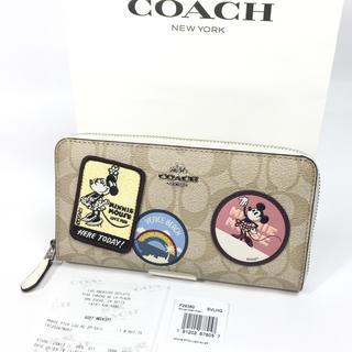 コーチ(COACH)のコーチ ディズニー コラボ シグネチャー ミニーマウス 長財布 F29380新品(財布)