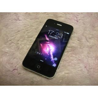 アップル(Apple)のiPhone4 16GB softbank No824 USB充電ケーブル付き(スマートフォン本体)