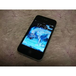 アップル(Apple)のiPhone4 32GB softbank No825 USB充電ケーブル付き(スマートフォン本体)