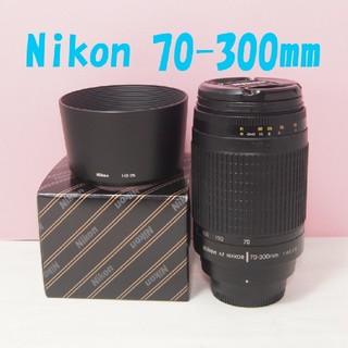 ニコン(Nikon)の‼️300mm 超望遠&新品フード付き◎ニコン 70-300mm 美品‼️(レンズ(ズーム))