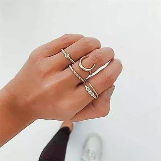 5Pセット!! インディアンジュエリー好きに!指輪 リング!リゾートスタイル!(リング(指輪))
