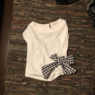 アンドクチュール(And Couture)のアンドクチュール リボン Tシャツ(カットソー(半袖/袖なし))