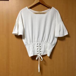 シマムラ(しまむら)のしまむら 編み上げ コルセットTシャツ トップス(Tシャツ(半袖/袖なし))