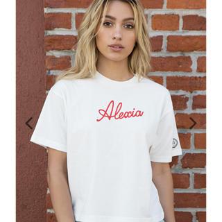 アリシアスタン(ALEXIA STAM)の【新品】アリシアスタン  Tシャツ ホワイト(Tシャツ(半袖/袖なし))