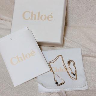 クロエ(Chloe)の【新品未使用】 値下げしました! クロエ ブラックパール ネックレス パール(ネックレス)