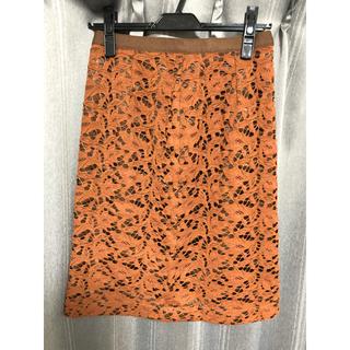 スープ(SOUP)のボタニカルレースタイトスカート(ひざ丈スカート)
