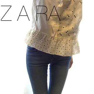 ザラ(ZARA)のZARA切りっぱなしスキニーデニムサイズ34(デニム/ジーンズ)