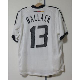 古着☆バラック☆ドイツ代表☆白L半袖13番☆2002年ワールドカップ(ウェア)