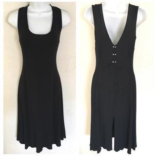 アンナモリナーリ(ANNA MOLINARI)のアンナモリナーリ ブルマリン ブラック フォーマル ドレス(ミディアムドレス)