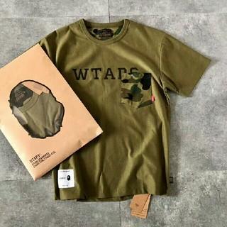 ダブルタップス(W)taps)のWTAPS X BAPE  Tシャツ両面着 迷彩(Tシャツ/カットソー(半袖/袖なし))