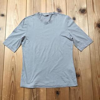 ジルサンダー(Jil Sander)のジルサンダーグレー(灰色)メンズコットンTシャツ   (Tシャツ/カットソー(半袖/袖なし))
