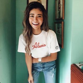 アリシアスタン(ALEXIA STAM)のAlexiastam 刺繍ロゴTシャツ(Tシャツ(半袖/袖なし))
