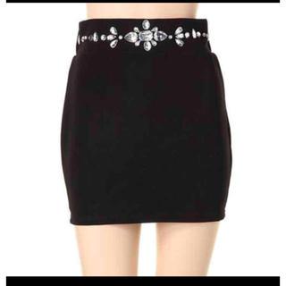 ダチュラ(DaTuRa)のダチュラ DaTuRa タイトスカート ミニ スカート ビジュー(ミニスカート)
