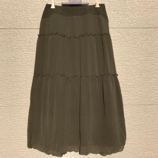 ヒロコビス(HIROKO BIS)の美品 HIROKO BIS ヒロコビス スカート カーキ グリーン  9(ロングスカート)
