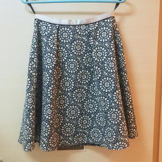 スープ(SOUP)のSOUP レース模様のサラサラ夏スカート(ひざ丈スカート)