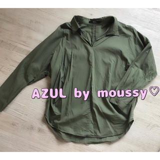 アズールバイマウジー(AZUL by moussy)のAZUL by moussy♡スキッパーシャツ(シャツ/ブラウス(長袖/七分))