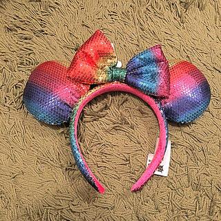 ディズニー(Disney)のミニー カチューシャ レインボー アナハイム カリフォルニア(カチューシャ)