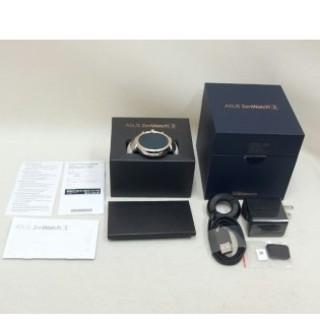 エイスース(ASUS)のZenWatch 3 シルバー/グレーベージュレザー WI503Q-LGR04(その他)