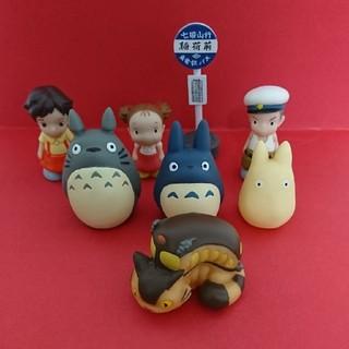 ジブリ(ジブリ)のとなりのトトロ 指人形 バス停  どんぐり共和国 リース ハンドメイド(キャラクターグッズ)