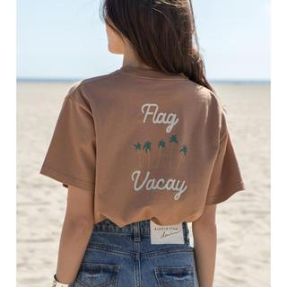 アリシアスタン(ALEXIA STAM)の新品未使用★ALEXIA STAM ♡Flag Vacay Tee♡ブラウン(Tシャツ(半袖/袖なし))